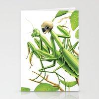 Safe sex for mantis Stationery Cards