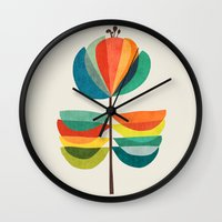 Whimsical Bloom Wall Clock