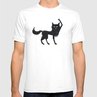 Canus Lupus Mens Fitted Tee White SMALL