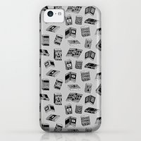 iPhone 5c Cases featuring Antique Book Pattern by Stacey Muir