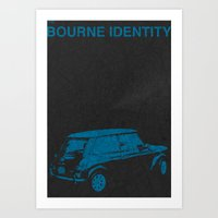Bourne Map Art Print