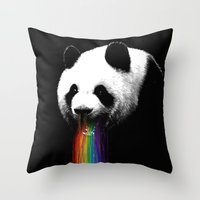 Pandalicious Throw Pillow