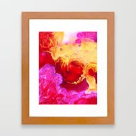 Abstract Painting Red Go… Framed Art Print