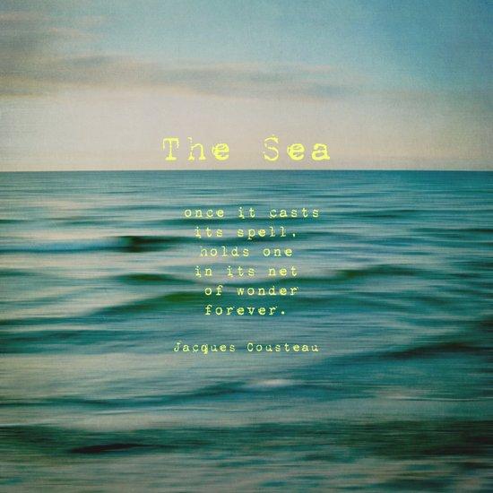 The Sea - typo Canvas Print