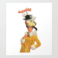 bacon and eggs couture Art Print