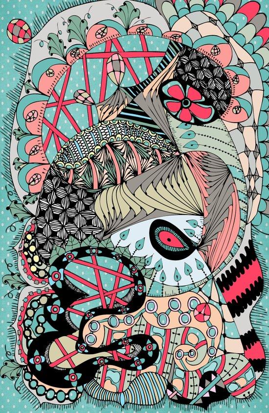 The eye looking flower Art Print