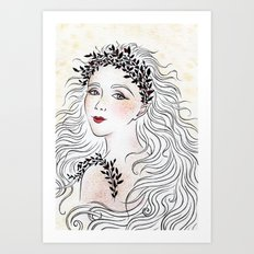 Silver and Ivory Art Print