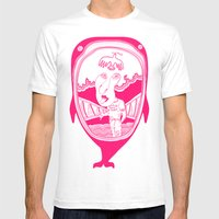 Inside The Whale Mens Fitted Tee White SMALL