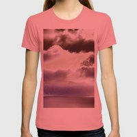 Sky Ring Womens Fitted Tee Pomegranate SMALL
