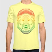 Lion Mens Fitted Tee Lemon SMALL