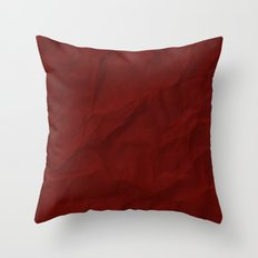 Red paper Throw Pillow