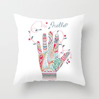 Hi helllo Throw Pillow