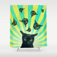 Cat Explosion Shower Curtain