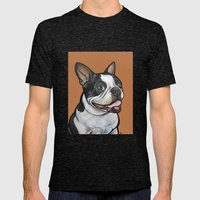Snoopy the Boston Terrier Mens Fitted Tee Tri-Black SMALL