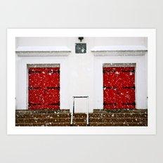2 doors Art Print