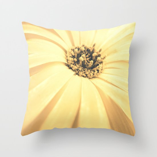 Champagne Petals Throw Pillow