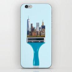 NEW YORK BRUSH iPhone & iPod Skin