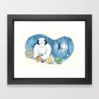Frozen Dinner Framed Art Print