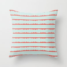 Spots and Strips Throw Pillow
