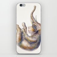 Falling Elephant iPhone & iPod Skin