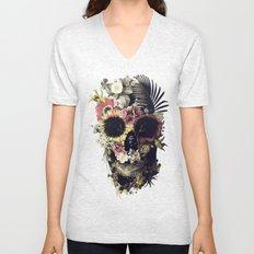 Garden Skull Unisex V-Neck