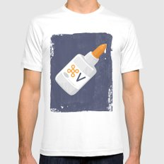 Command Paste Mens Fitted Tee White SMALL