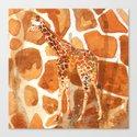 Camouflage giraffe, animal skin, safari art, giraffe, giraffe art, cute animal art, nursery animals Canvas Print