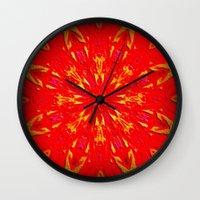 Fire Mandala Wall Clock