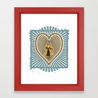 Queen Of Hearts Not Head… Framed Art Print
