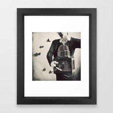 The Butterfly Releaser Framed Art Print