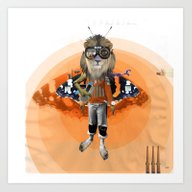 Lion Kid Collage 1 Art Print