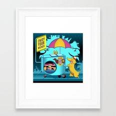 enjoy your wiener Framed Art Print