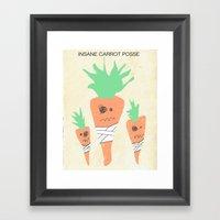 Insane Carrot Posse Framed Art Print