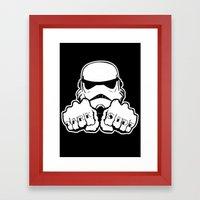 Dark Side Knuckle Framed Art Print