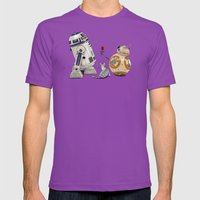 LOVE DROID & THE CAT Mens Fitted Tee Ultraviolet SMALL