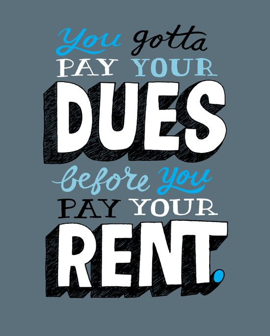 Dues Before Rent Canvas Print
