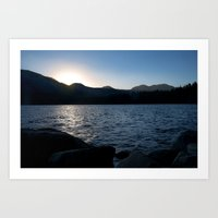 Fallen Leaf Lake At Suns… Art Print
