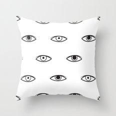 Eyes - David Bowie Throw Pillow