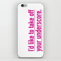 Score With The Underscor… iPhone & iPod Skin