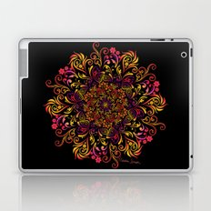 Fire Swirl Flower Laptop & iPad Skin