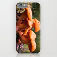 iPhone Cases featuring Orange Fungus by Kevin Westerman