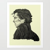Sherlock Holmes ( Contour 04 ) Art Print