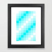 Design3 Cyan Framed Art Print