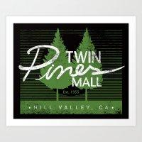 Twin Pines Mall Art Print