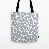 Mosaic Zoom Grey Tote Bag