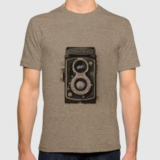 Yashica Retro Vintage Camera Mens Fitted Tee Tri-Coffee SMALL
