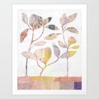 Flowers On Wood Art Print