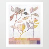 Flowers On Wood Art Print