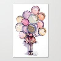 Float Away // Fashion Il… Canvas Print