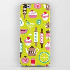 Lime cocktail party and candy kitchen food print iPhone & iPod Skin